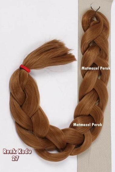 Sentetik Afrika Örgüsü Saçı Karamel Renk Kodu -27