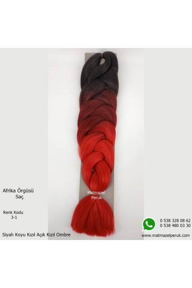 Sentetik Afrika Örgüsü Saç Ombreli Renk Kodu -3-1