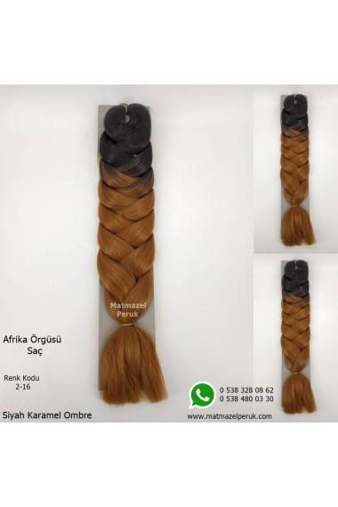 Sentetik Afrika Örgüsü Saçı Ombreli Renk Kodu -2-16
