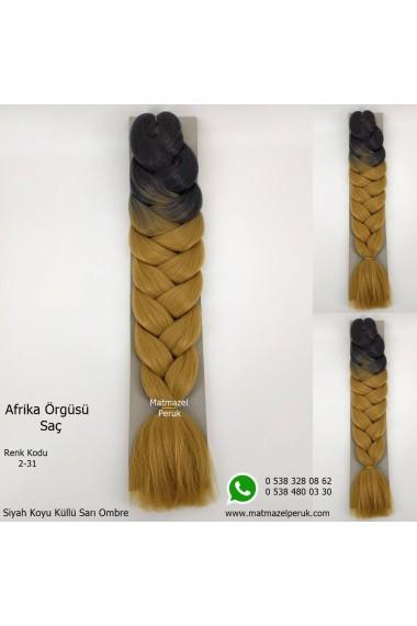 Sentetik Afrika Örgüsü Saçı Ombreli Renk Kodu -2-31