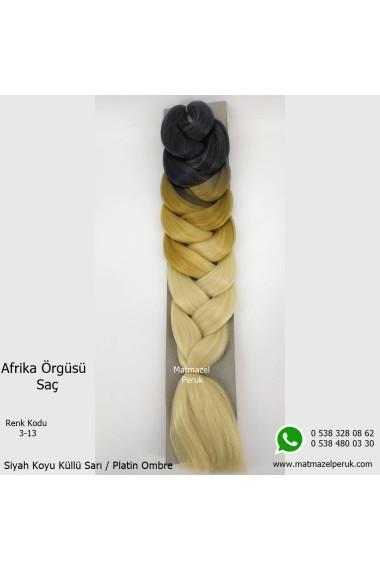 Sentetik Afrika Örgüsü Saç Ombreli Renk Kodu -3-13