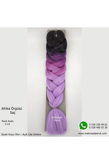 Sentetik Afrika Örgüsü Saç Ombreli Renk Kodu -3-14