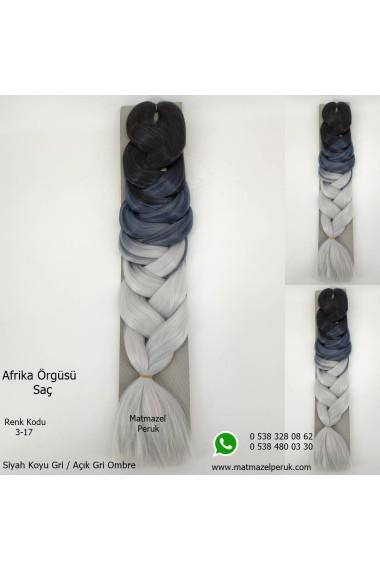 Sentetik Afrika Örgüsü Saçı Ombreli Renk Kodu -3-17