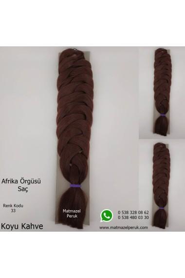 Sentetik Afrika Örgüsü Saç Renk Kodu-33