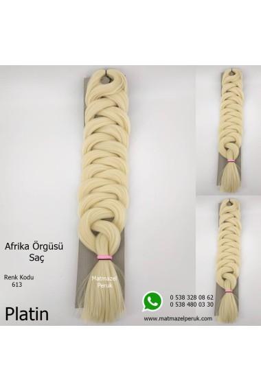 Sentetik Afrika Örgüsü Saçı Platin Renk Kodu -613