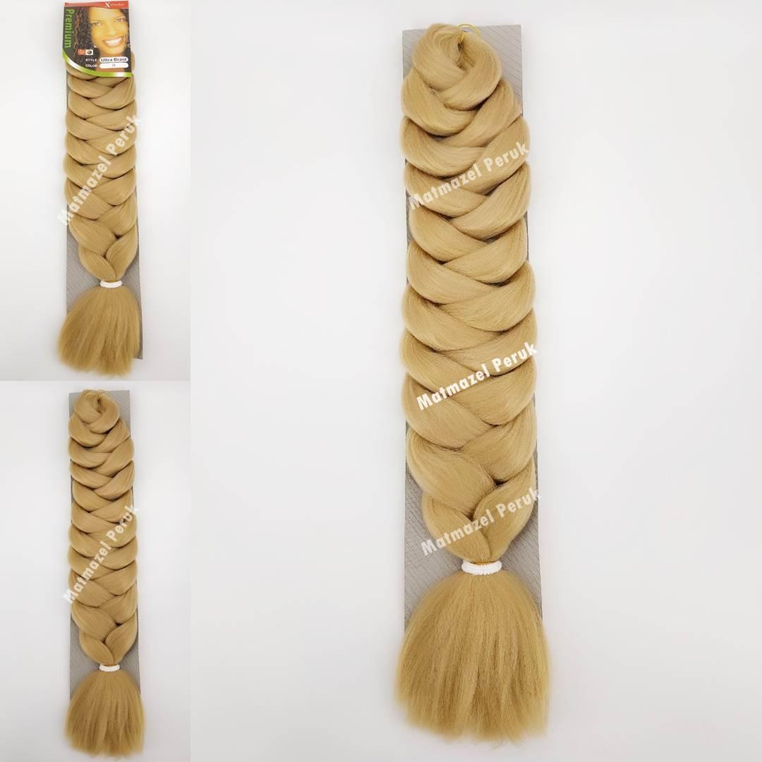 Afrika örgüsü için sentetik saç karamel renk