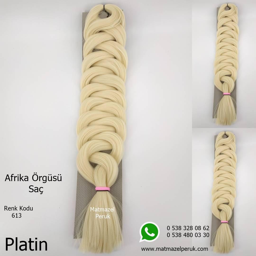 Afrika örgüsü için sentetik saç siyah renk