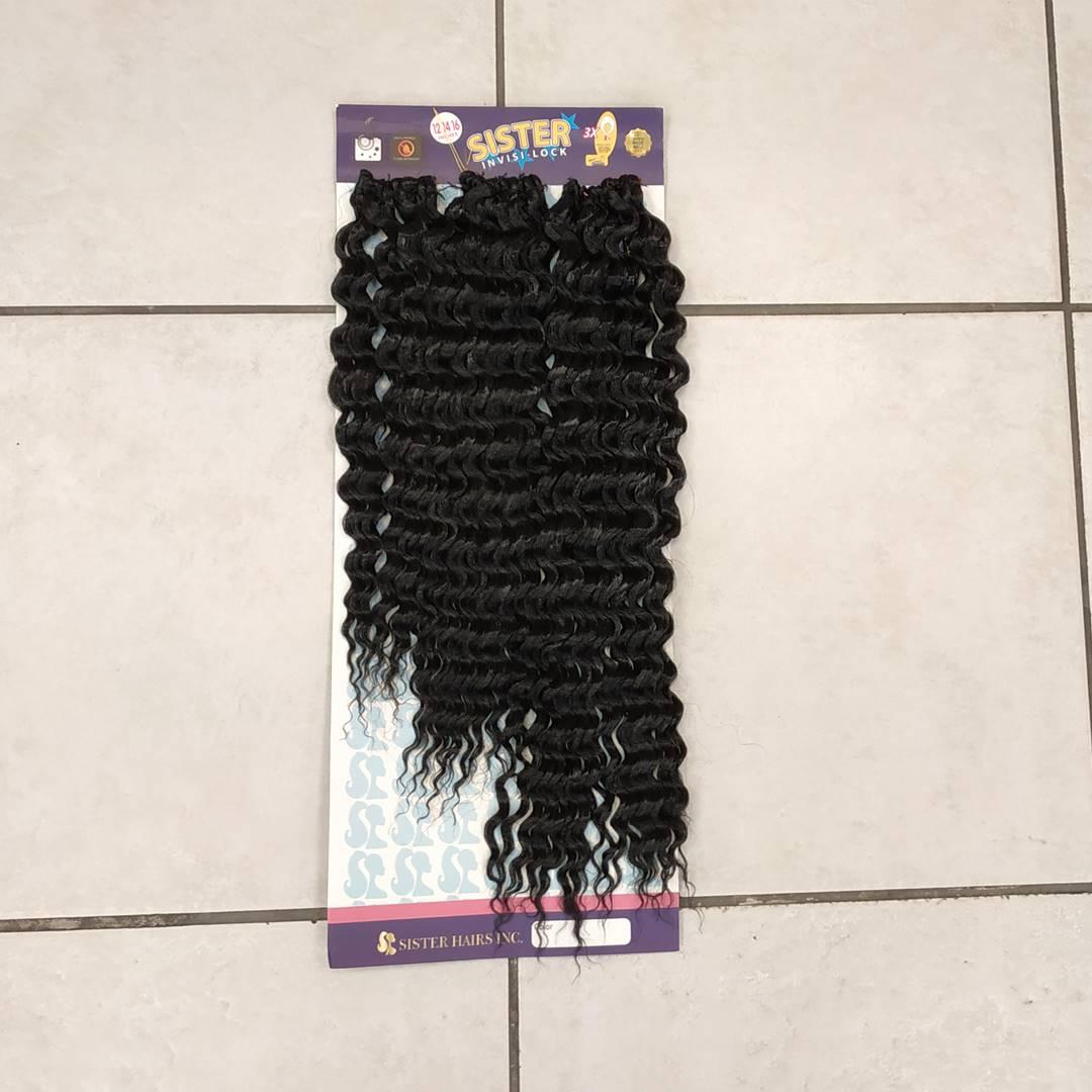 afro dalgası saç siyah renk kabarık kıvırcık