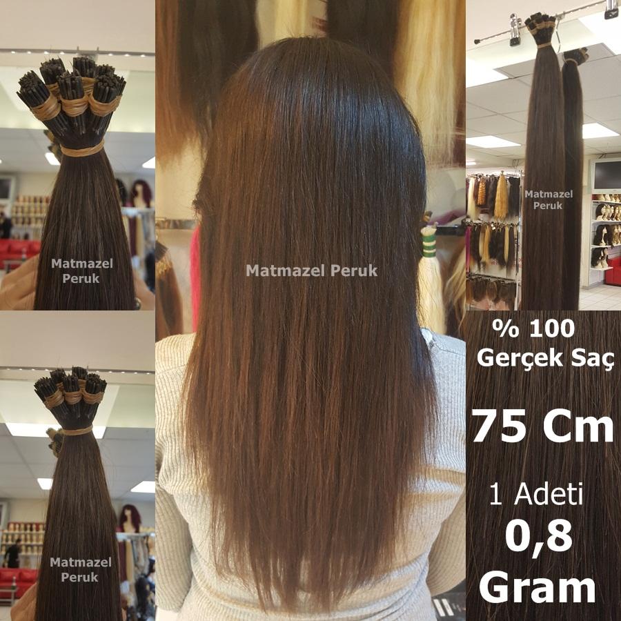 gerçek saç boncuk kaynak doğal renk 0.8 gram 75 cm kaynak saç