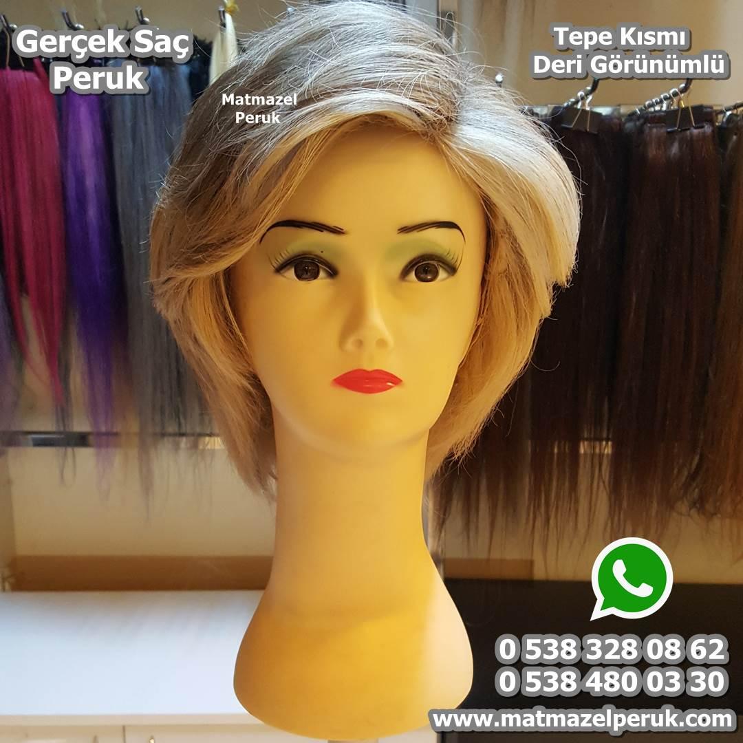 kısa gerçek saç peruk medikal peruk doğal peruk