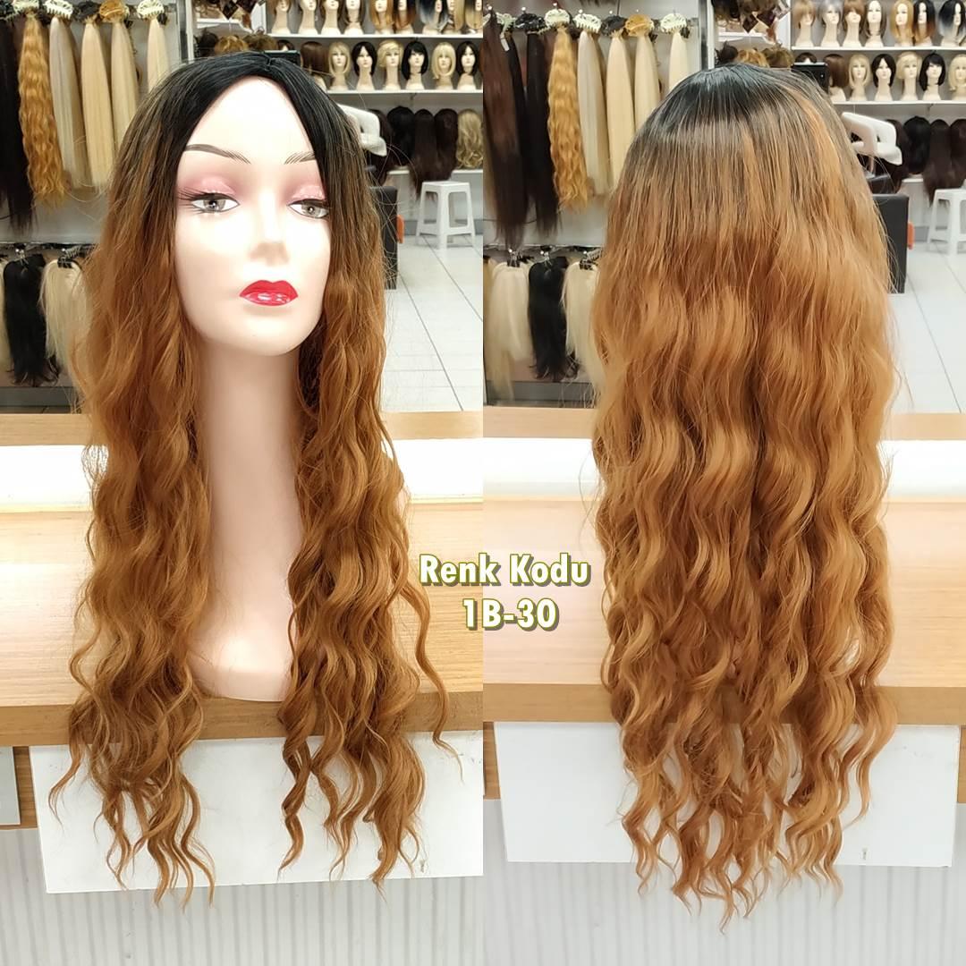 kanekalon peruk fiber sentetik peruk kahkülsüz