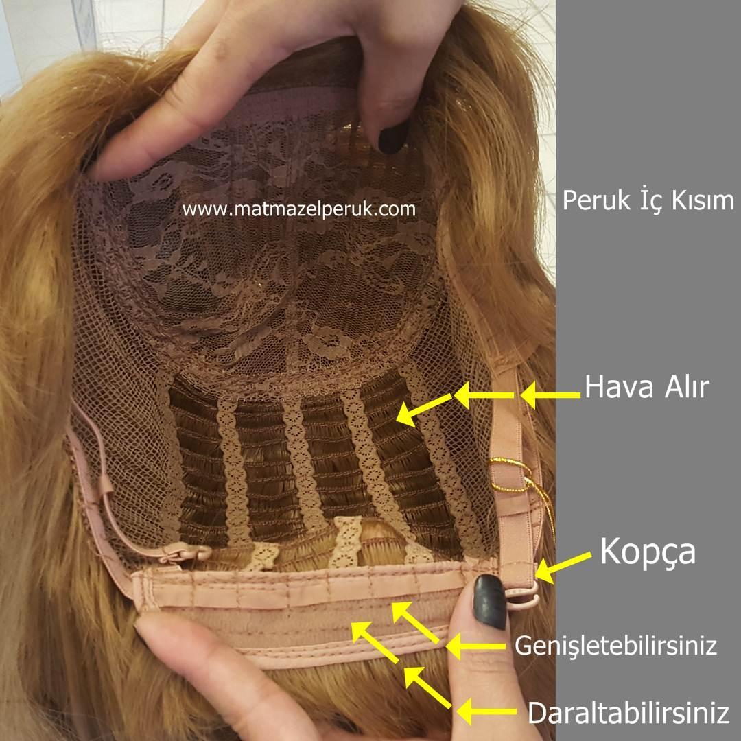 uzun sentetik peruk