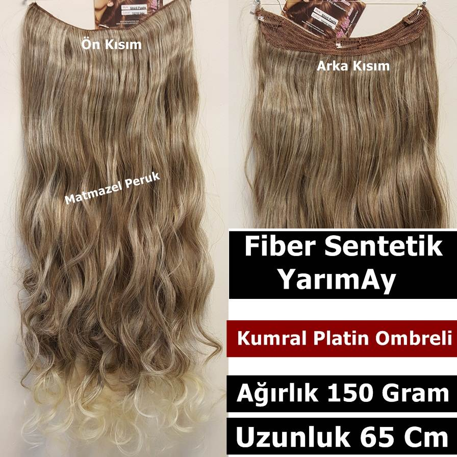 sentetik saç yarımay çıtçıt saç yarımay